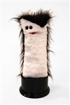 Colorful, furry hand puppet for kids.