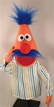 Orange Puppet with Blue Mustache