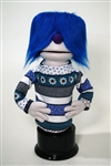 Hand Puppet With Blue Hair