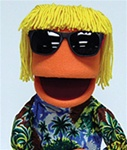 Surfer Dude Puppet with Sunglasses