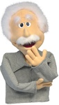 Albert Puppet resembles a famous physicist.