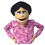 Donna is a matronly woman puppet.  Great for puppet plays, live puppet shows, and video puppets.
