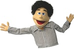 This funny loving boy puppet is perfect for your live puppet shows.
