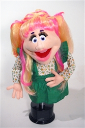 "Suzanne is a one-of-a-kind, 20"" puppet with cartoon eyes and a very professional look."