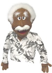 Albert is a Cocoa skinned professional hand puppet designed to resemble Albert Einstein.