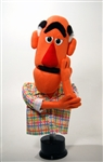 "Frank is a 24"" tall hand puppet with orange skin and two tone hair.  Frank is designed for puppet ministry."