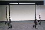 professional puppet theater black curtains
