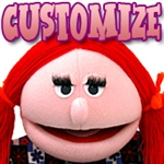"16"" female puppet design ready for your customization."